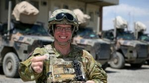 Image of Australian Army padre Chaplain Andrew Osborne provides spiritual guidance and welfare support, to soldiers deployed in Afghanistan.